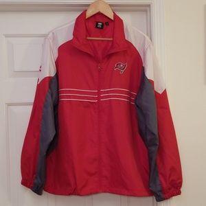 Bucs Reebok Windbreaker Zip Up Jacket Mens L